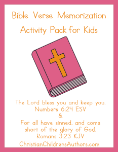 Kids will love working through these activity pages as they learn Numbers 6:24 and Romans 3:23!! :: www.thriftyhomeschoolers.com