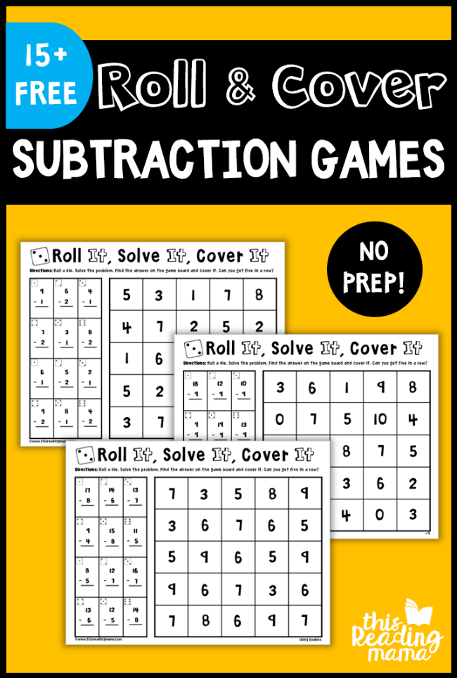 Learning math facts can be tedious and boring. Make them fun and interactive with these FREE printable Subtraction Games! :: www.thriftyhomeschoolers.com