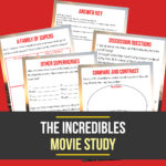 Incredibles Movie Unit Study {Freebie Friday}
