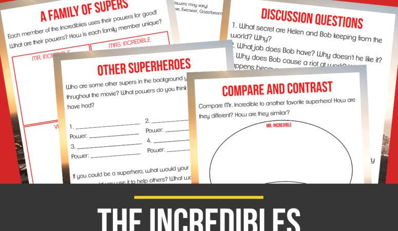 Incredibles Movie Unit Study {Freebie Friday}
