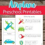 Airplane & Transportation Preschool Printables