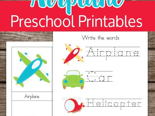 Airplane & Transportation Preschool Printables