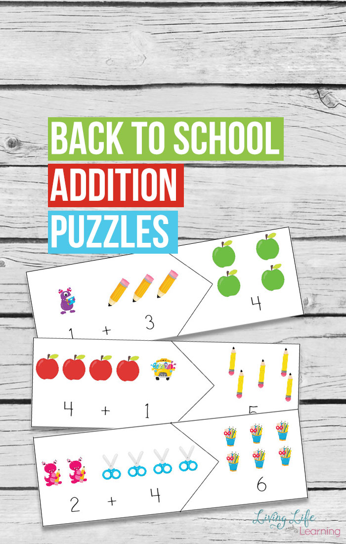 If you are reviewing addition facts or introducing the concept your children will love these puzzles! Not only will these help your children learn their addition facts but it makes for a great worksheet alternative.
