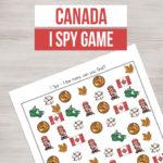 Printable Canada I Spy Game