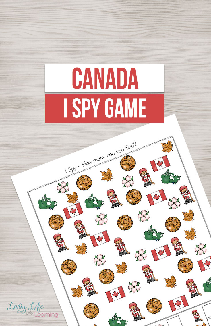 "If you are studying Canada then this ""I Spy"" game could be a great addition to all your other activities. The packet includes different variations so no page is the same which allows you a lot more times to play!"