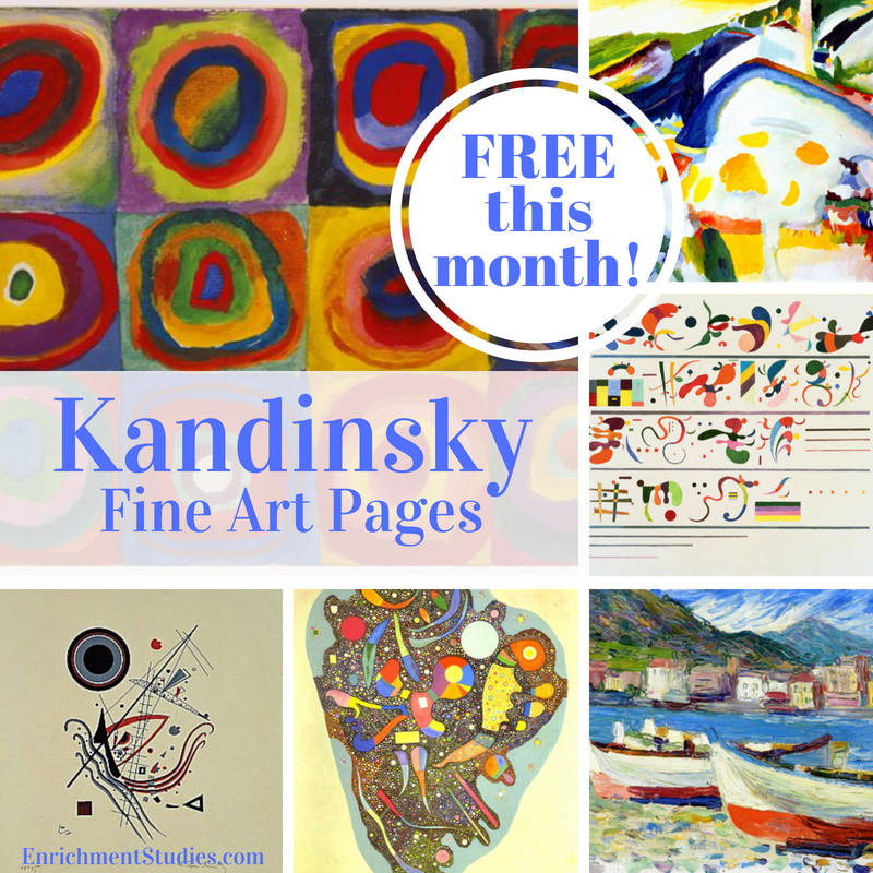 Using these FREE Fine Arts pages in your homeschool is a great way to introduce your children to new artists! :: www.thriftyhomeschoolers.com