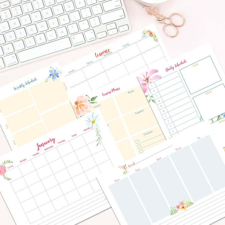 Homeschool planning season is almost here and so, of course, you are going to need a new planner. This floral planner may be just what you are looking for. If not, have no fear there is also a template allowing you to create your own planner!!