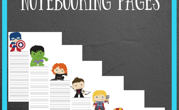 Avengers Notebooking Pages