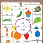 Free Hungry Caterpillar Printable 3-Part Cards