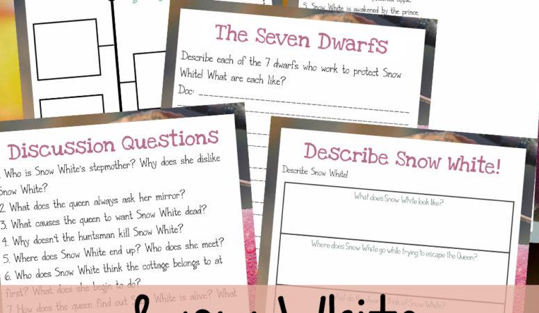 Snow White Movie Unit Study {Freebie Friday}
