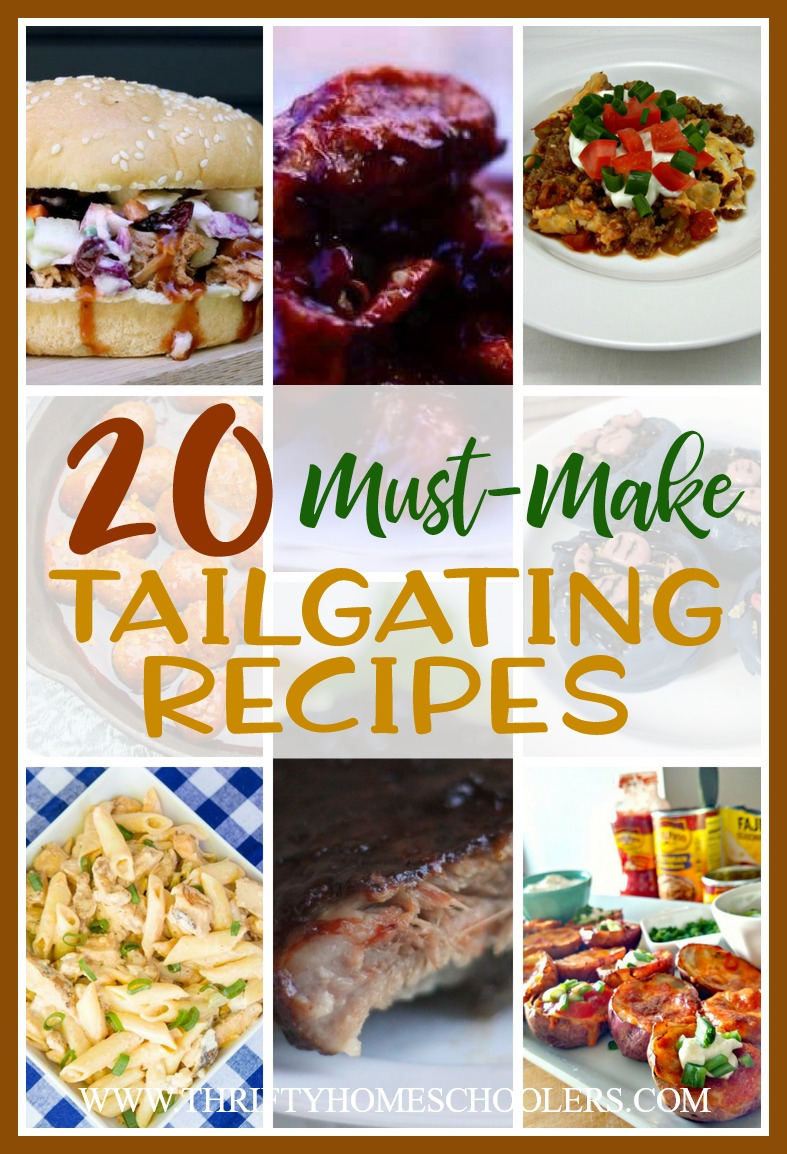 Football season is the perfect time for tailgate parties and delicious finger food recipes! Whether you're attending a game in person or hanging out at home with family, these recipes are sure to be a hit before the big game! :: www.thriftyhomeschoolers.com