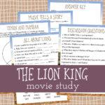Lion King Movie Unit Study