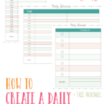 FREE Homeschooling Daily Schedule Printable
