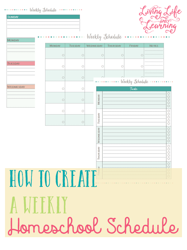 Creating a weekly homeschooling schedule can be a bit overwhelming. However, with these weekly planning sheets creating a homeschooling schedule got just a little bit easier.