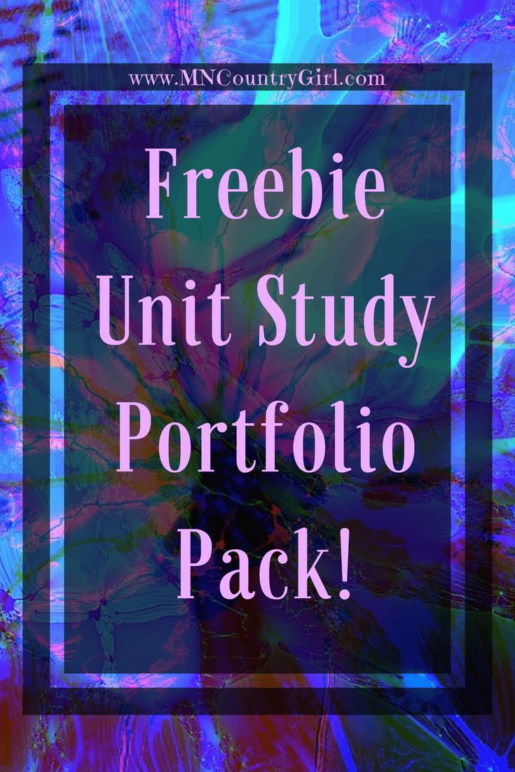 Free Homeschool Unit Study Portfolio Pack
