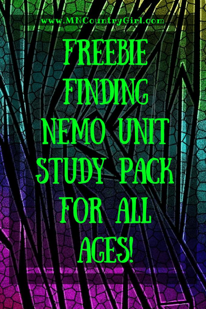 Free Finding Nemo Unit Study Pack