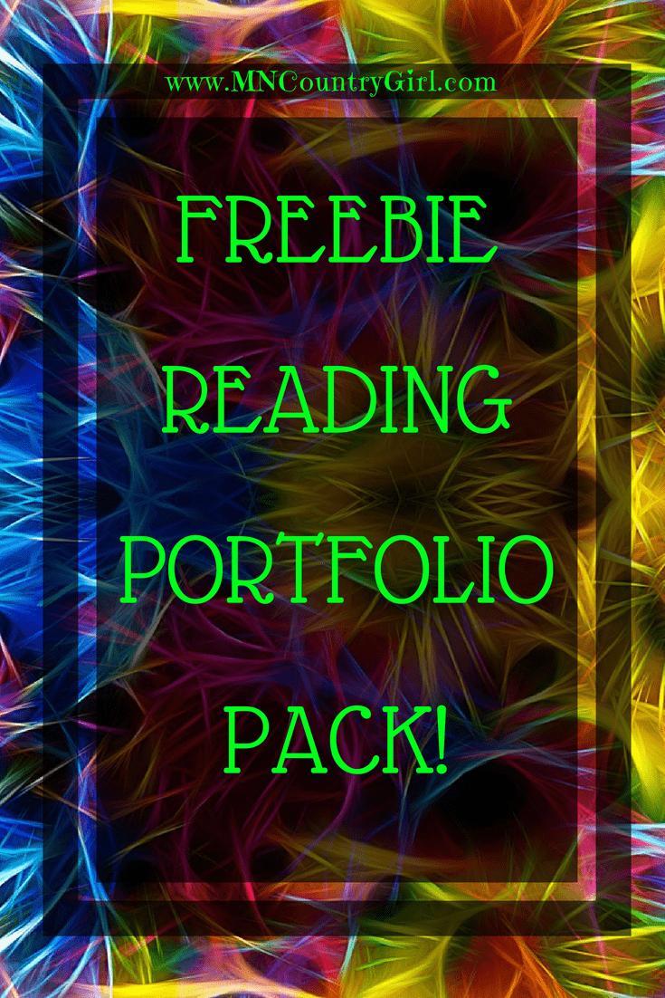 Free Reading Portfolio Pack