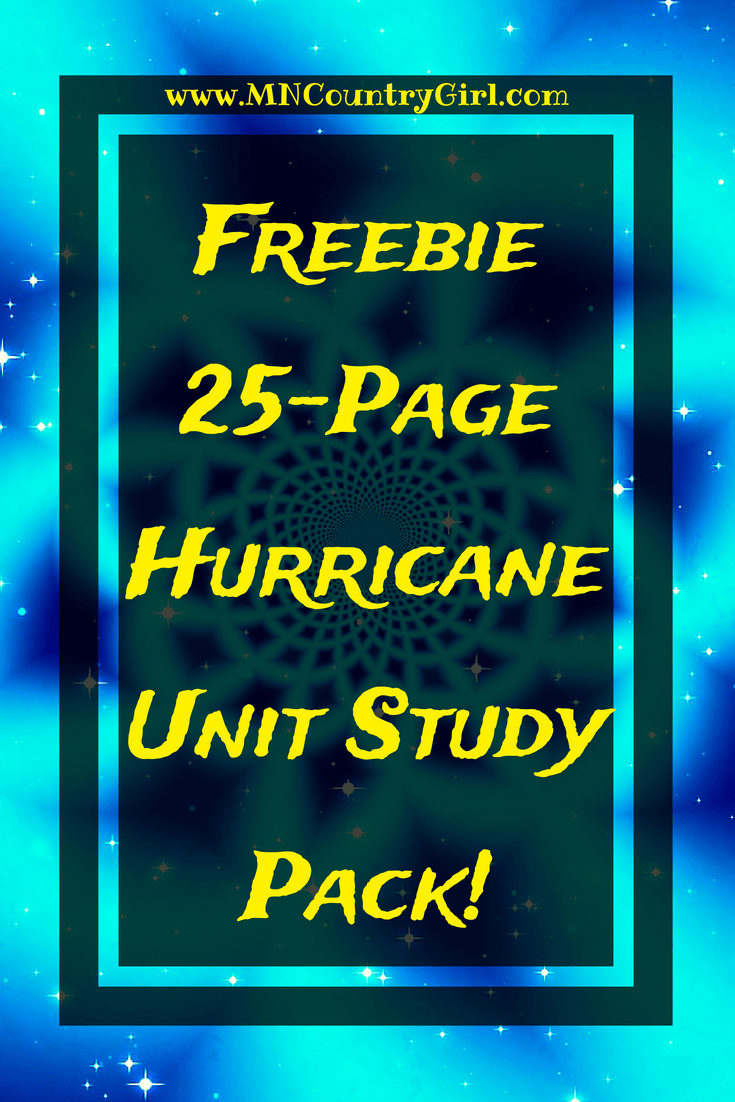 Hurricane Unit Study Pack