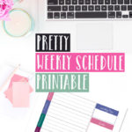 Pretty Weekly Schedule Printable