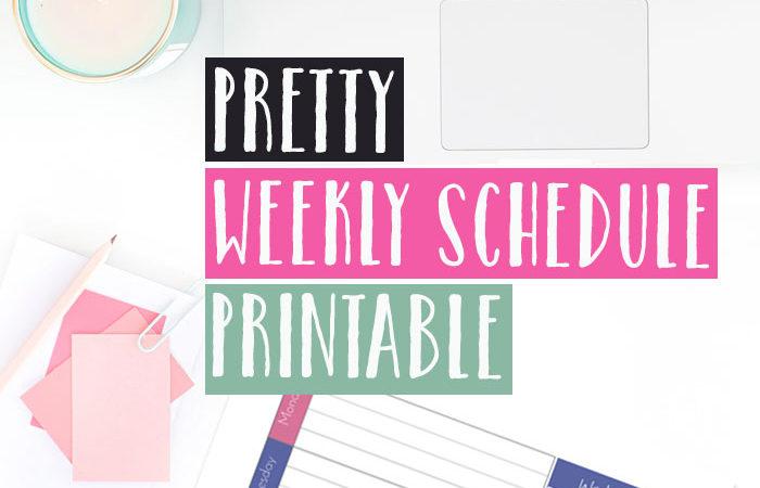 Pretty Weekly Schedule Printable