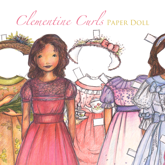 Clementine Curls Paper Doll Set