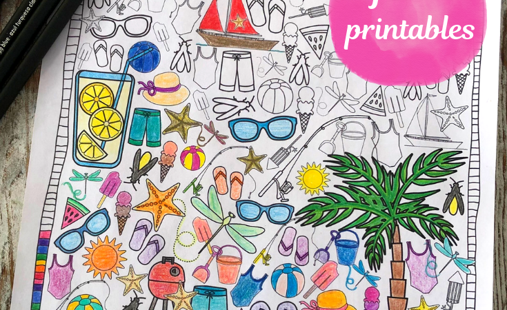 I Spy Coloring Pages for Summer