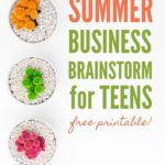 Summer Business Brainstorm Printable for Teens