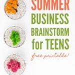 Summer Business Brainstorm for Teens