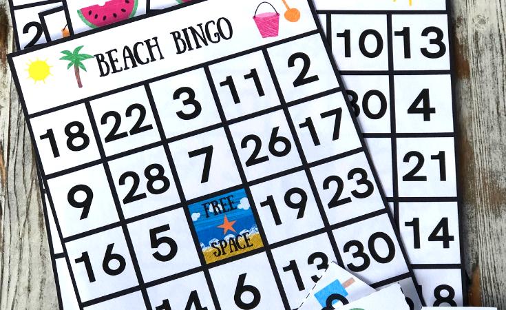 Free Beach Bingo Game Printable