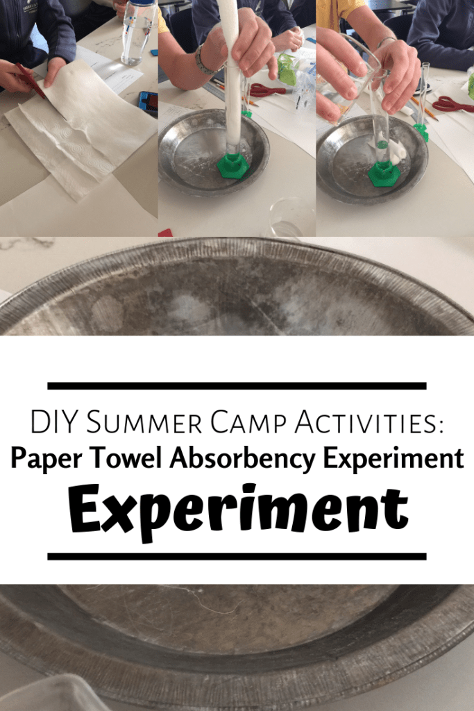 Paper Towel Absorbency Experiment