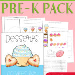 Desserts Preschool Printable Pack