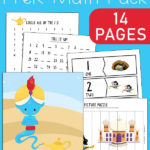 Aladdin Magic Lamp Preschool Math Pack