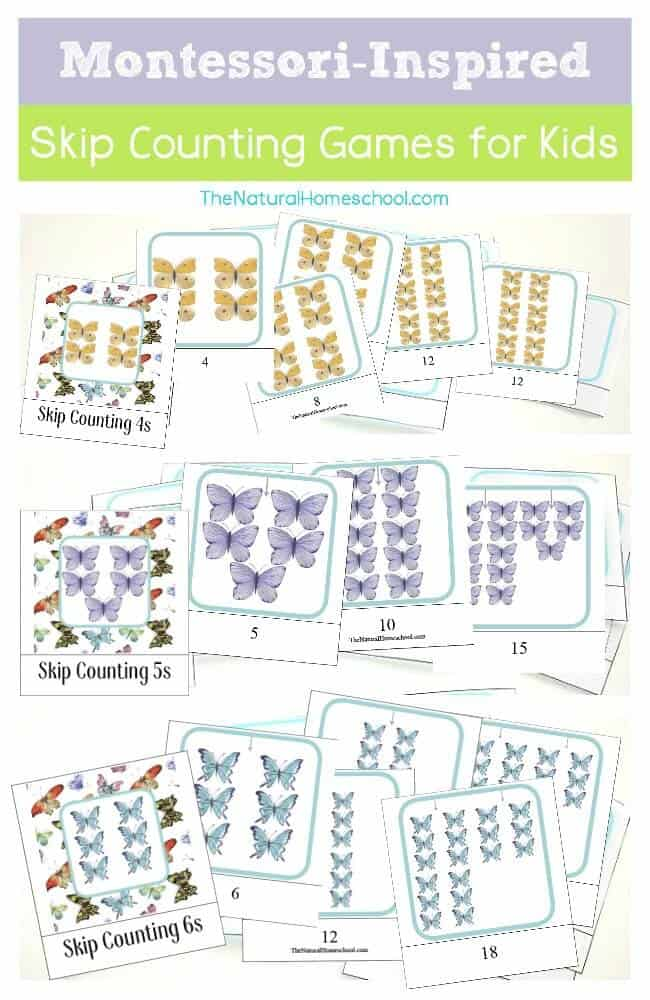 Skip Counting Cards 4s, 5s, 6s