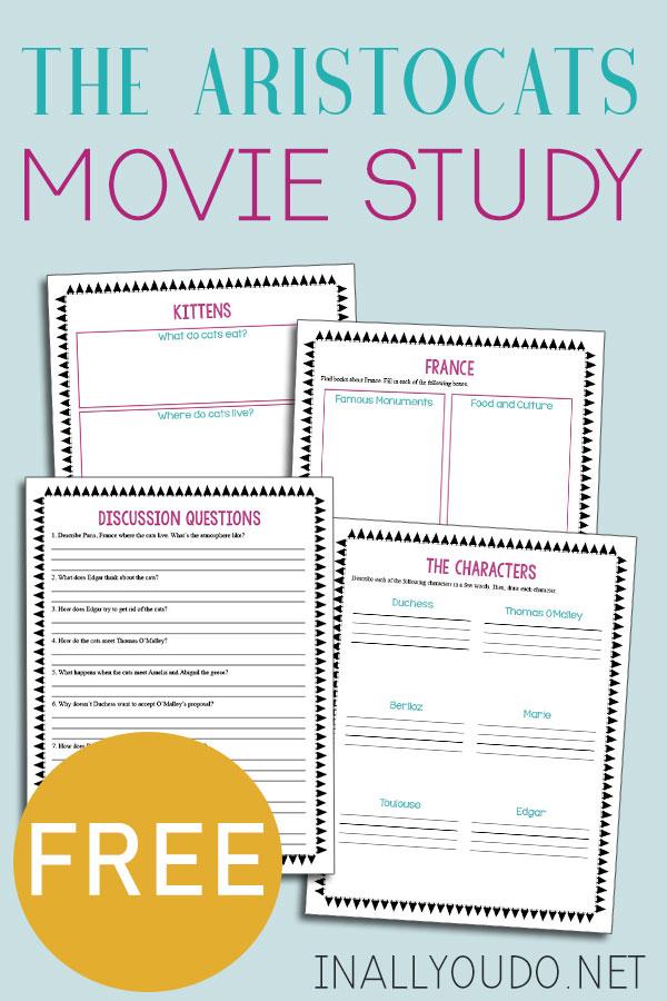 Free Aristocats Movie Study