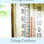 Predicting Temperature with Crickets