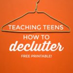 Decluttering Cheatsheet for Teens