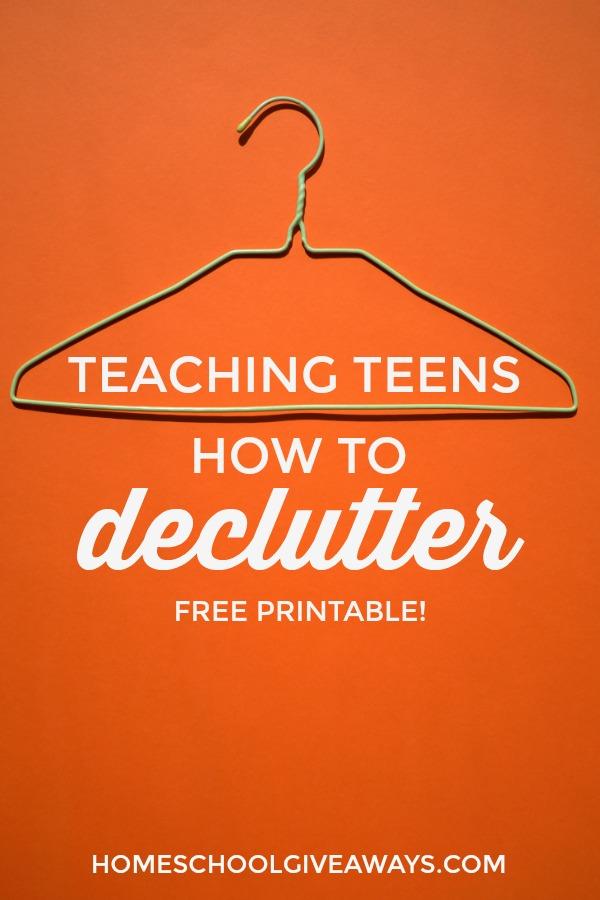 Declutter Cheatsheet for Teens