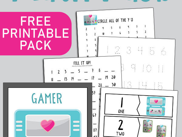 Gamer Preschool Math Pack
