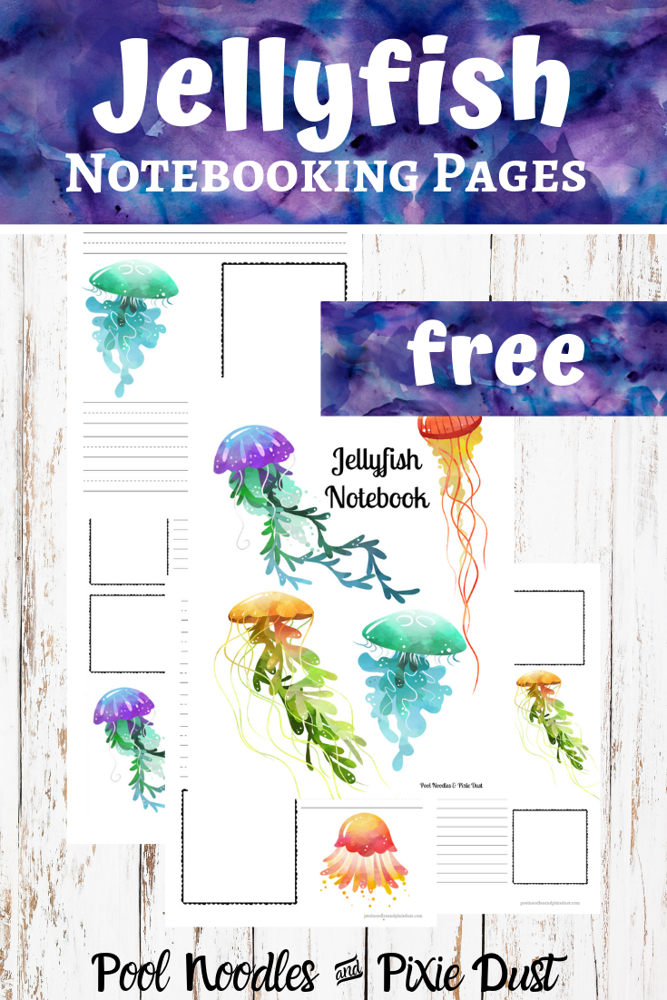 Jellyfish Notebooking Pages Freebie