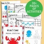 Summer Preschool Activity Pack