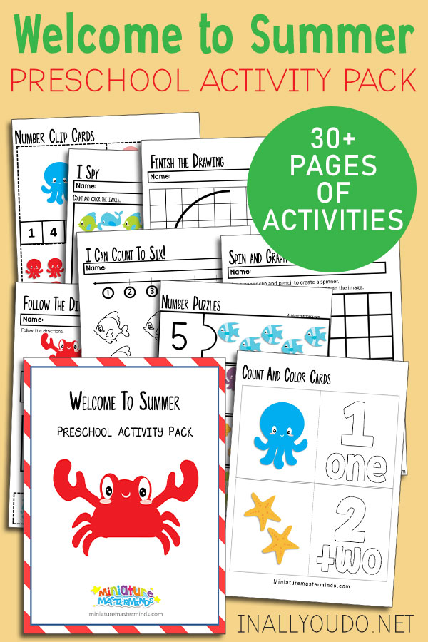 Summer Preschool Activity Pack