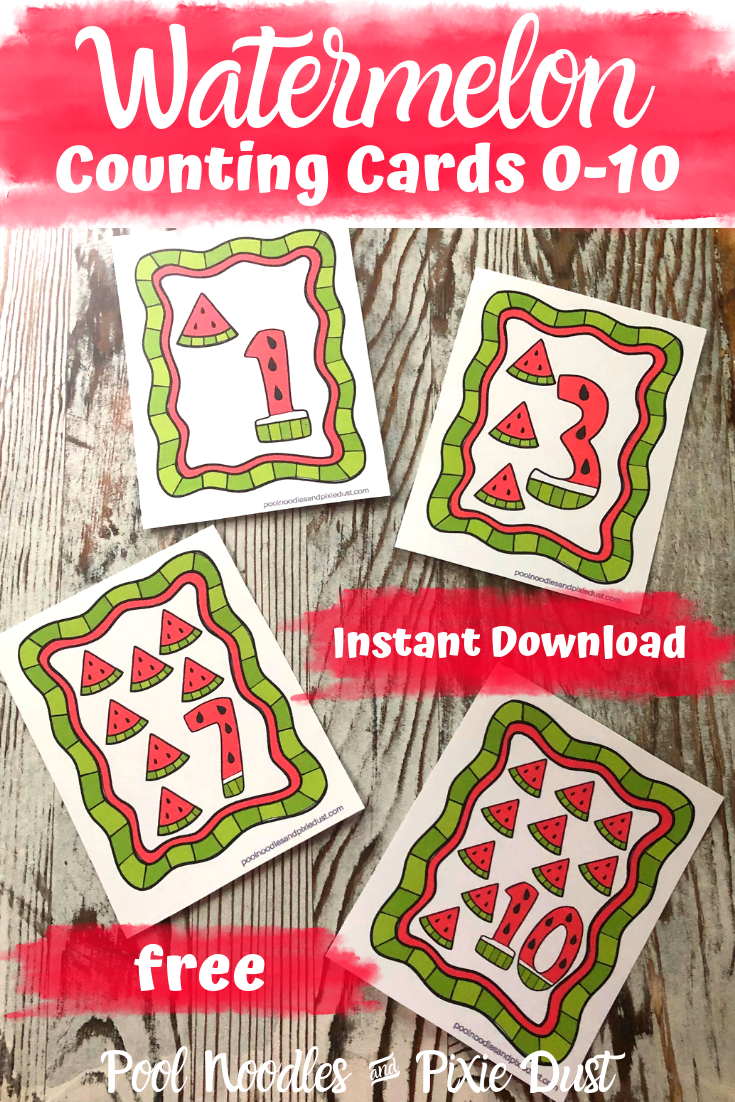 Free Watermelon Number Cards 0-10