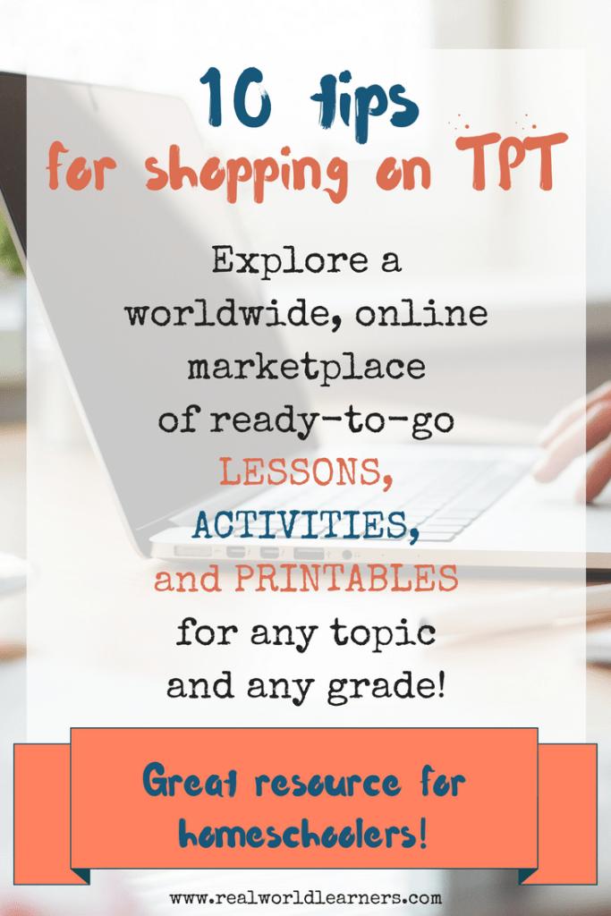 Tips for Shopping on TPT